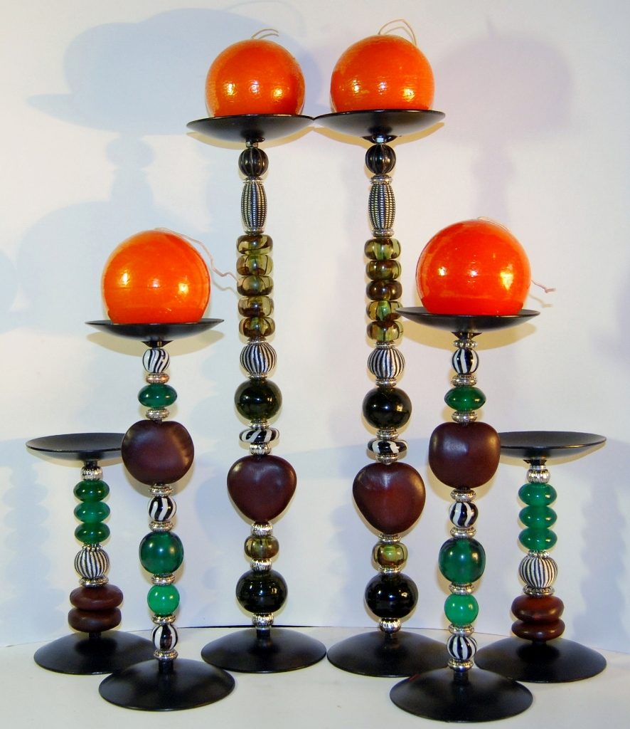 Zulu Love Bean Candlesticks - Design #1