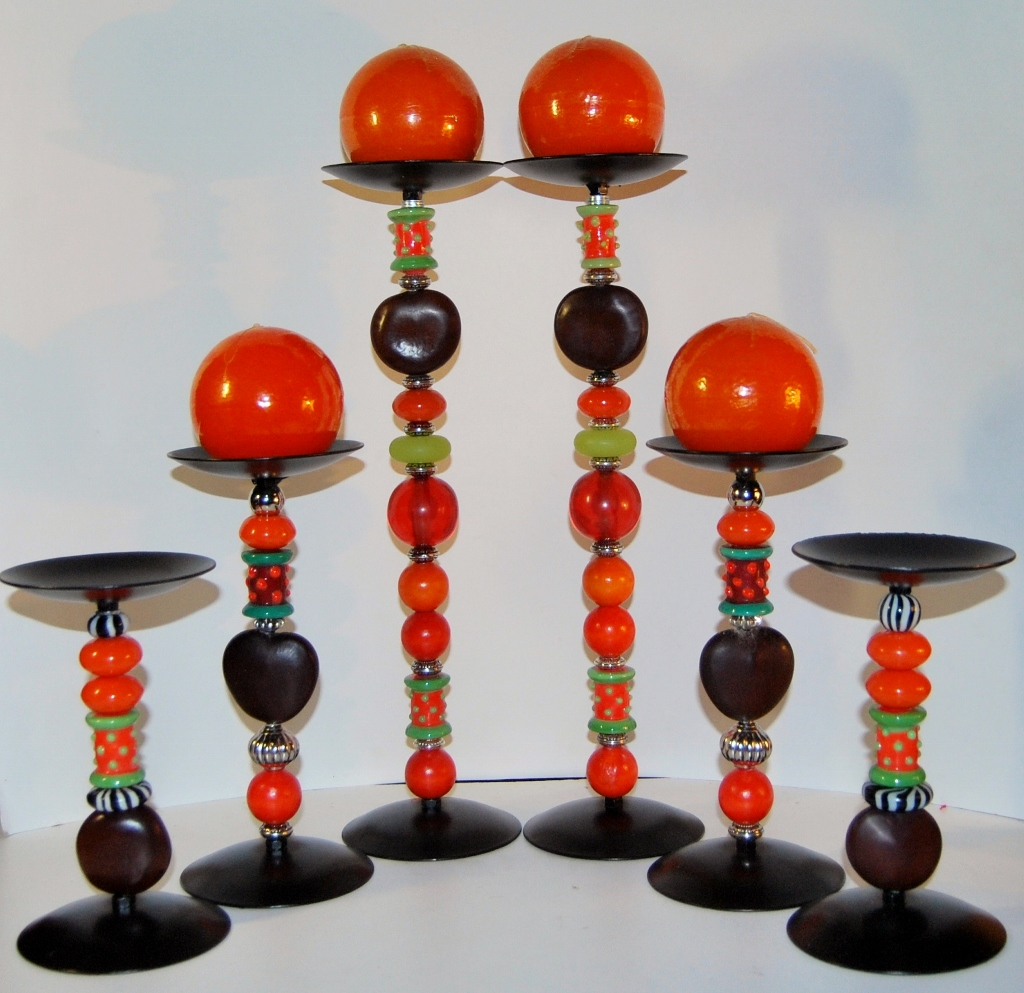 Zulu Love Bean Candlesticks - Design #3
