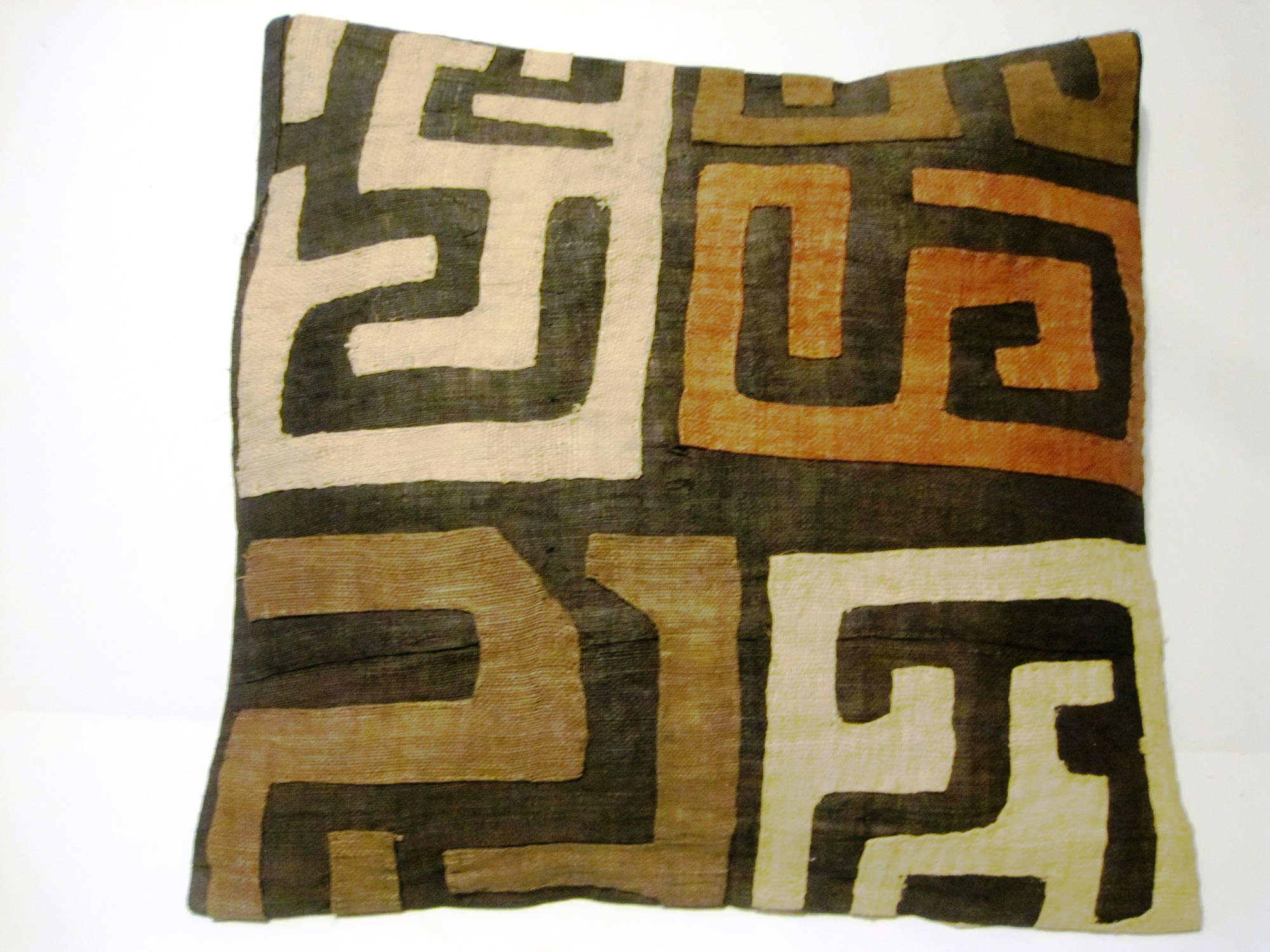 African Kuba Cloth Pillow Cover A2436