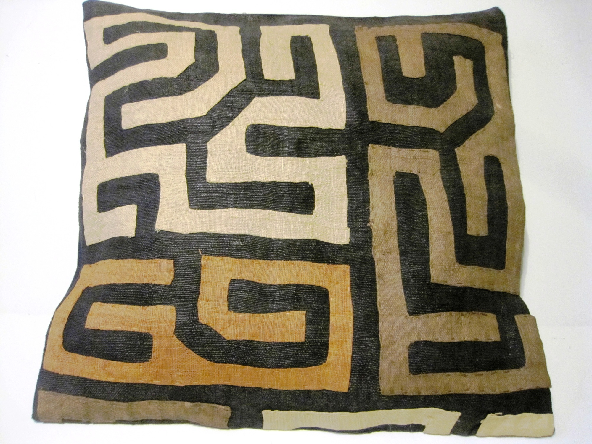 African Kuba Cloth Pillow Cover A2439
