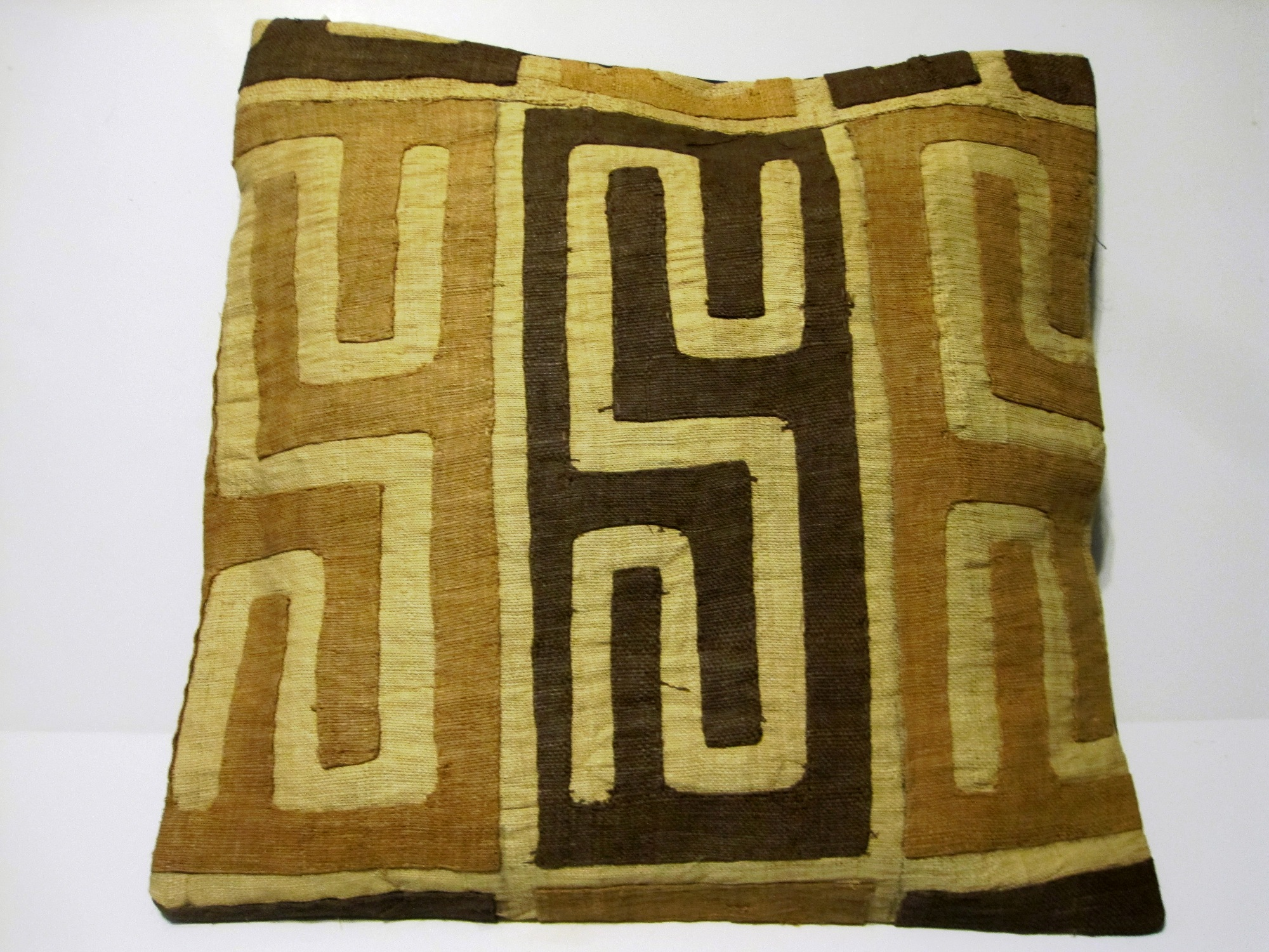 African Kuba Cloth Pillow Cover A2442
