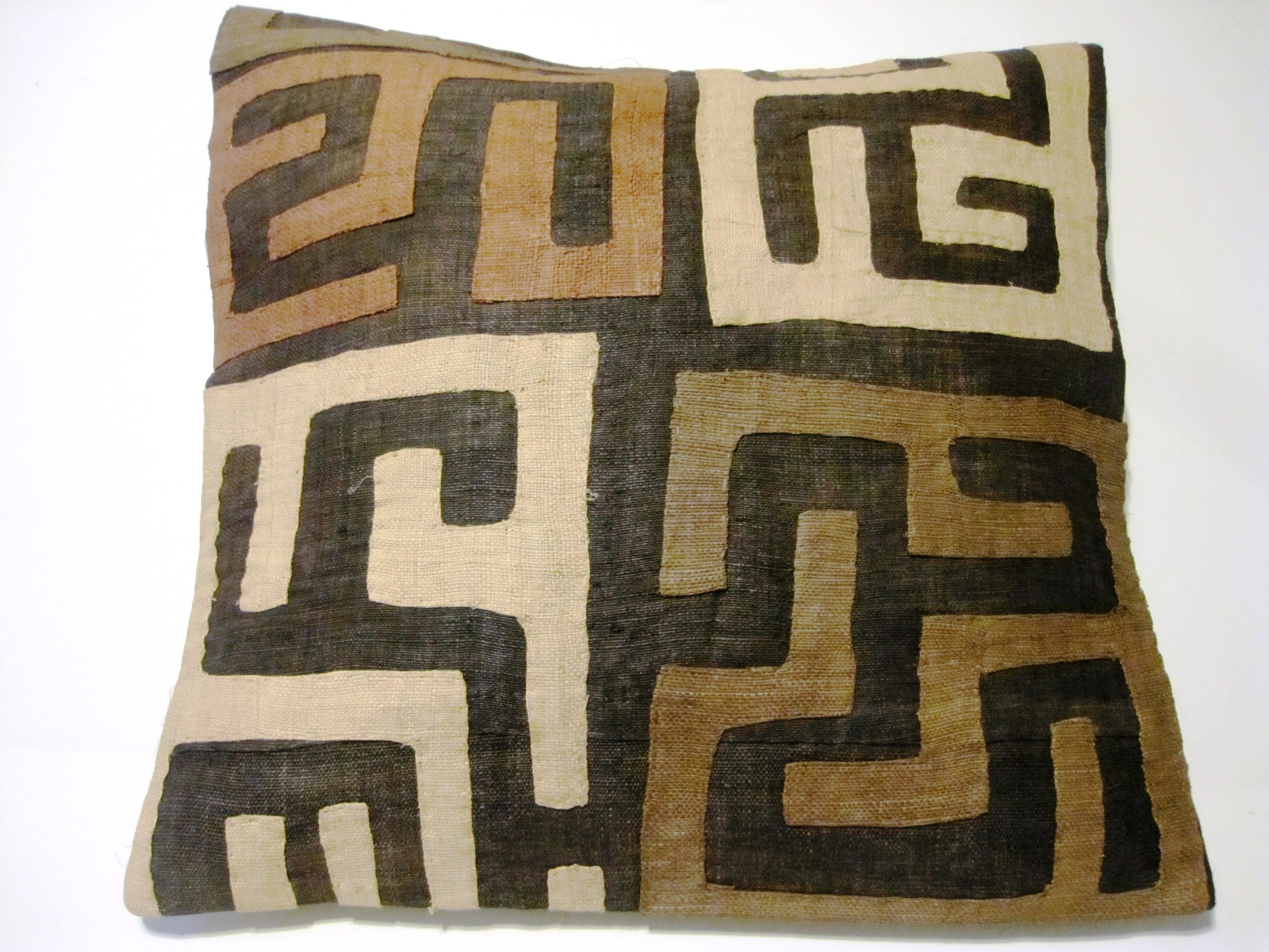 African Kuba Cloth Pillow Cover A2455