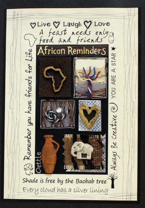 Handmade African Greeting Card - Reminders