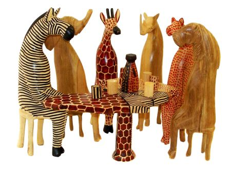 Wooden animals ornaments - Hover To Zoom