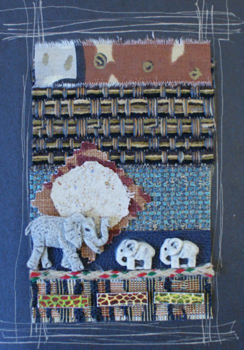 Handmade African Greeting Card - Baby Elephant