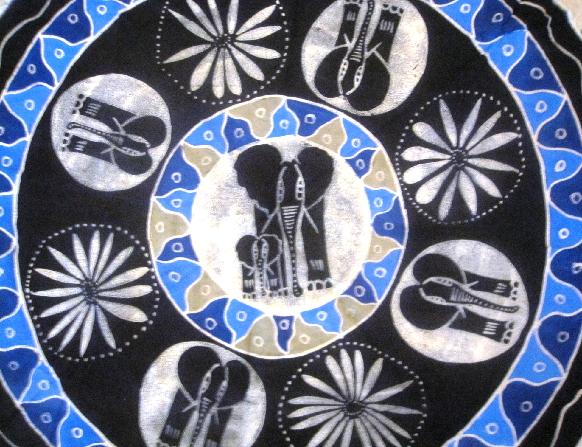 Round Batik Tablecloths from Zim