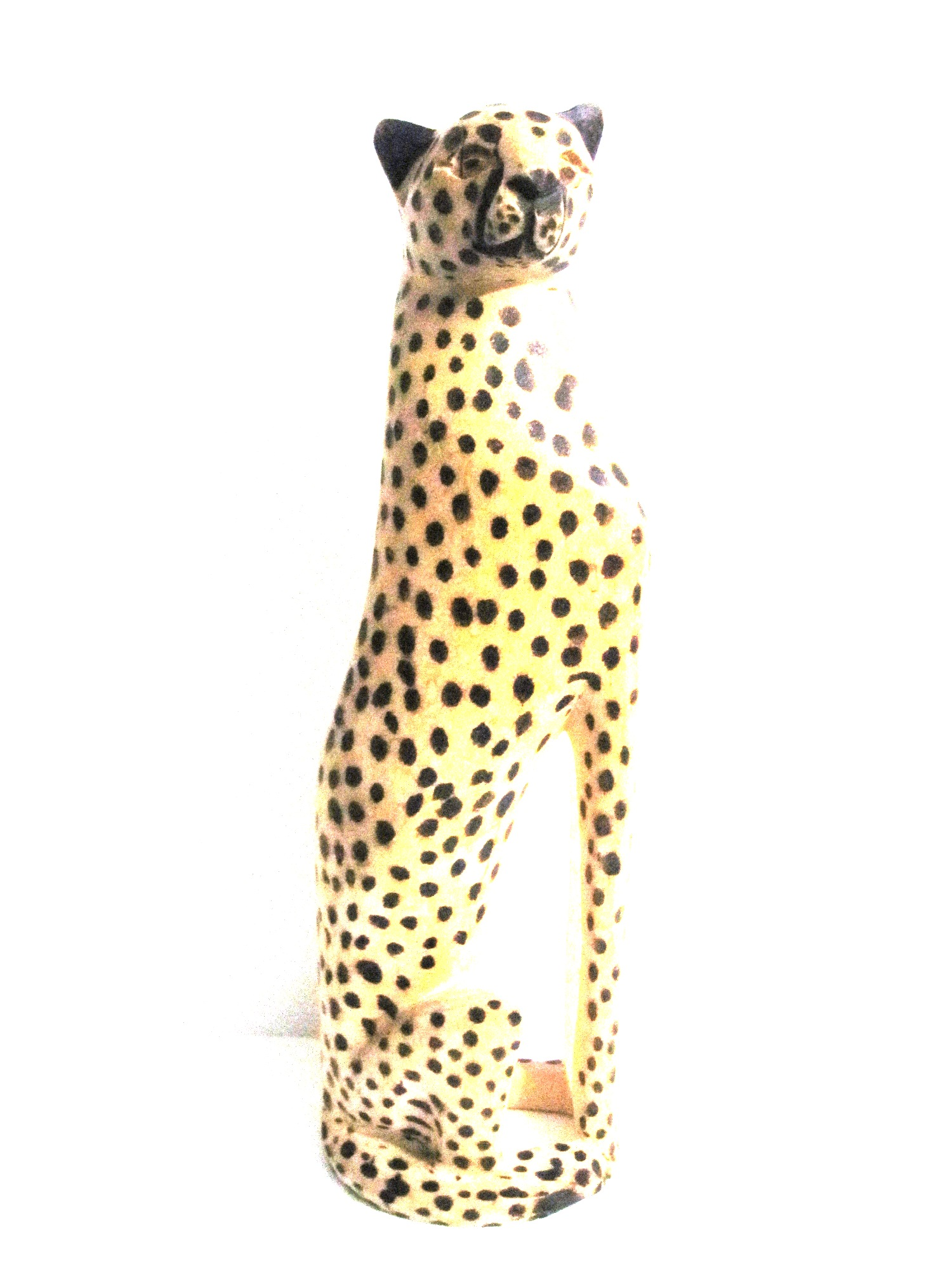 Handcrafted Cheetah Carving from Zimbabwe - Large