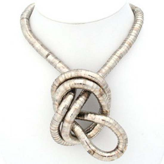 Snake Chain Necklace- Mixed - Silver & Gold