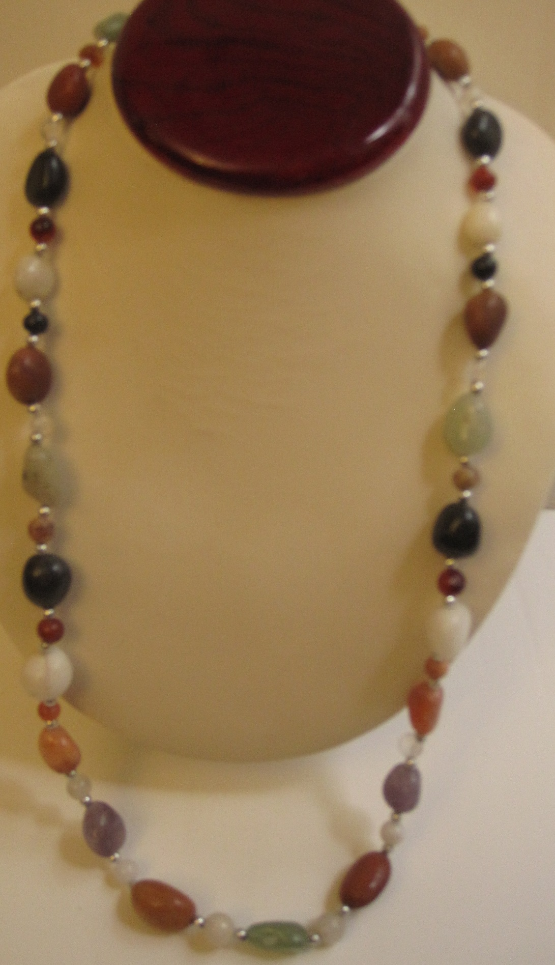 African Gemstone Combo Necklace #001
