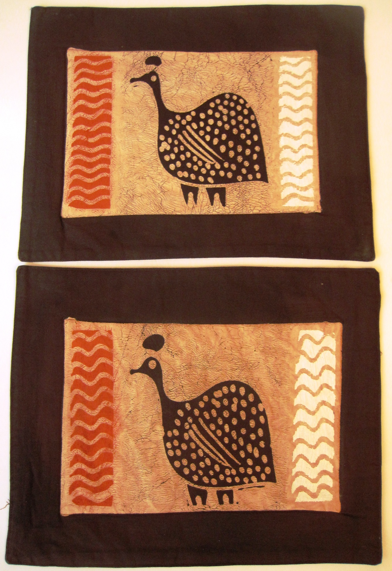 Guinea Batik Stripe Batik Placemats - Set of 2