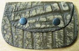 Genuine African Buffalo Small Purse - Brown