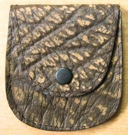 Genuine African Buffalo Credit Card Holder - Brown