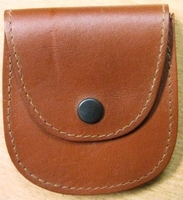 Genuine African Nubuck Credit Card Holder - Brown