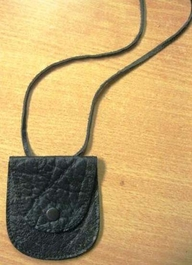 Genuine African Buffalo String Purse - Black