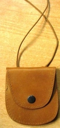Genuine African Nubuck String Purse - Brown