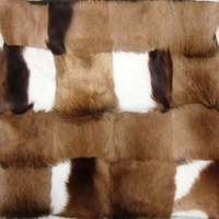 African  100% Genuine Springbok Skin/Hide Cushion Pillow  #003