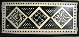 Black and White Rectangular Tray