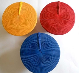 Yellow, Blue and Red Solid Zulu Hat