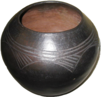 Zulu Clay Pot - Traditional Scratched Design #1