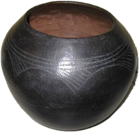 Zulu Clay Pot - Traditional Scratched Design #4