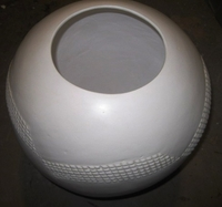 Zulu Clay Pot - White Traditional Edge Design #1