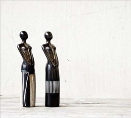 Jen Figures - Black and White Reeds