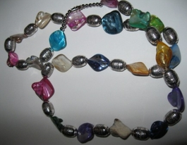 Iridescent Glass Necklace #009