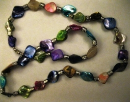 Iridescent Glass Necklace #002