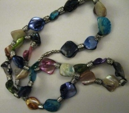 Iridescent Glass Necklace #017