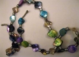 Iridescent Glass Necklace #020