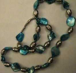 Iridescent Glass Necklace #019