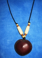 Zulu Love Bean Amulet Leather Necklace #1