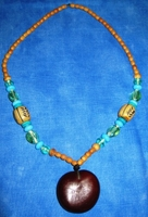 Zulu Love Bean Amulet Long Necklace #2