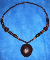 Zulu Love Bean Amulet Long Necklace #4