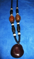 Zulu Love Bean Amulet Long Necklace #8