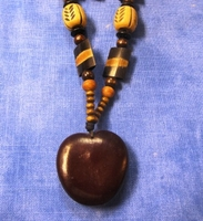 Zulu Love Bean Amulet Long Necklace #10