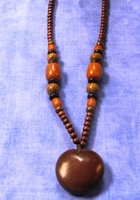Zulu Love Bean Amulet Long Necklace #6