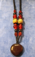Zulu Love Bean Amulet Long Necklace #7