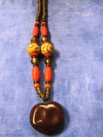 Zulu Love Bean Amulet Long Necklace #9
