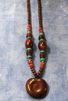 Zulu Love Bean Amulet Long Necklace #5