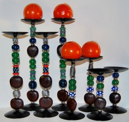 Zulu Love Bean Candlesticks - Design #5