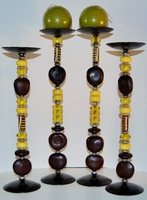 Zulu Love Bean Candlesticks - Design #6