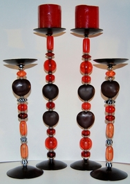 Zulu Love Bean Candlesticks - Design #4