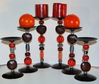 Zulu Love Bean Candlesticks - Design #7