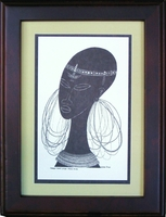Maasai Bride - Avo - Framed & Mounted