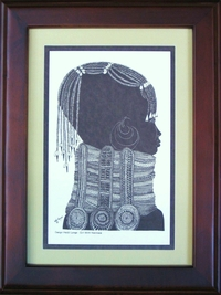 Girl with Necklace - Avo - Framed & Mounted