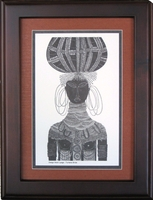 Turkana Bride - Tan - Framed & Mounted