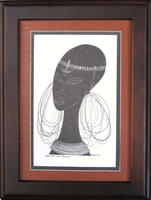 Maasai Bride - Tan - Framed & Mounted