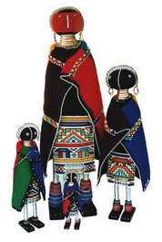 Ndebele Initiation Doll - Medium