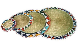 Ndebele Grass & Bead Placemat - Small
